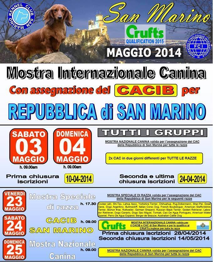 mostra internazionale canina san marino maggio 2014